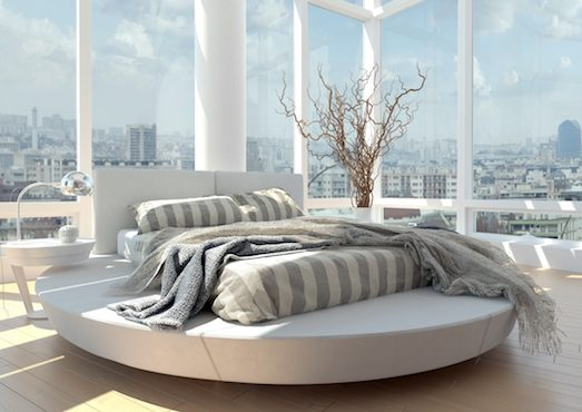 В чем необычность круглых кроватей