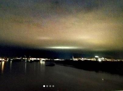 В Красноярске горожане приняли загадочное свечение за НЛО