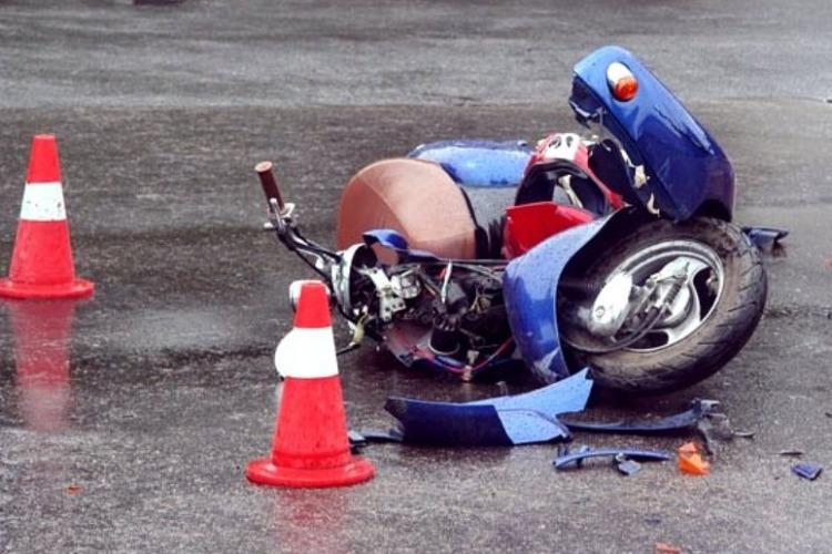 16-летний скутерист без прав пострадал в ДТП
