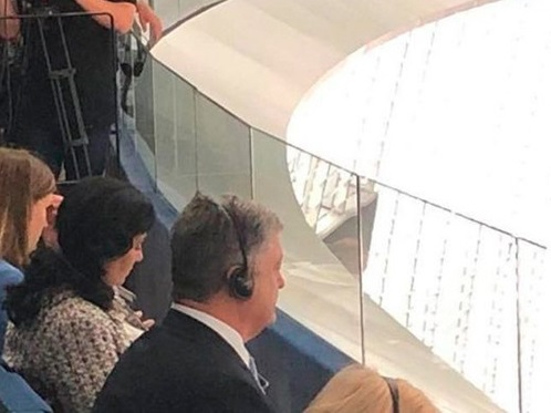 Порошенко не впустили в зал заседаний Европарламента, отправив его на балкон