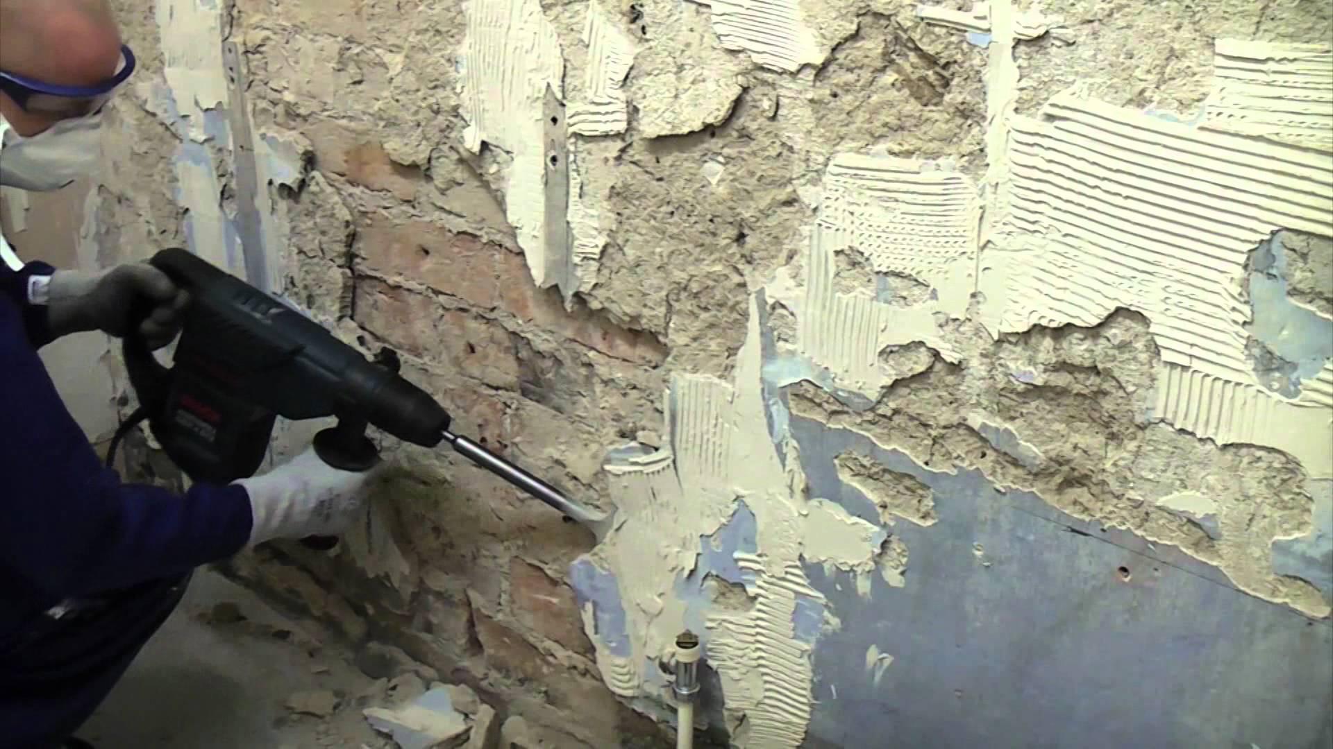 Какие цены на демонтаж штукатурки со стен и как это сделать самому